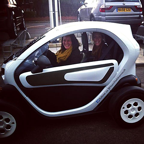 Anya Bramich in Renault Twizy